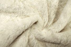 Tissu Fausse Fourrure Blanc cassé -Au Mètre
