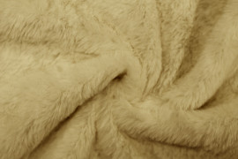 Tissu Fausse Fourrure Beige -Au Mètre