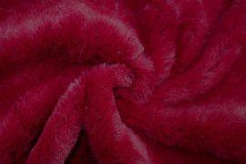 Tissu Fausse Fourrure Rouge -Au Mètre