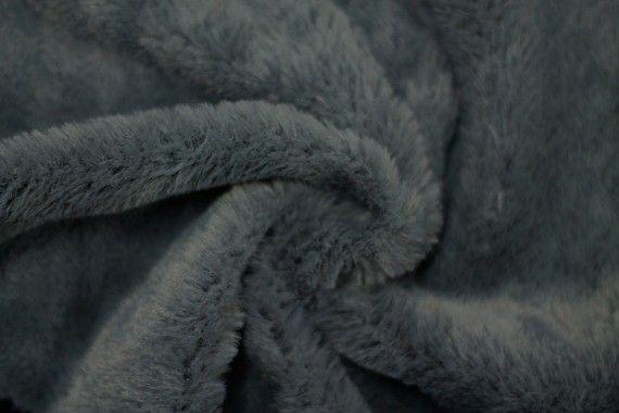Tissu Fausse Fourrure Gris foncé -Coupon de 3 mètres