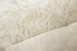 Tissu Fausse Fourrure Blanc cassé -Coupon de 3 mètres