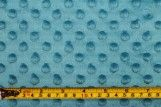 Tissu Polaire Minky Pois Turquoise -Au Mètre