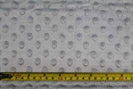 Tissu Polaire Minky Pois Gris -Au Mètre
