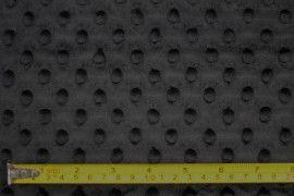 Tissu Polaire Minky Pois Noir -Au Mètre