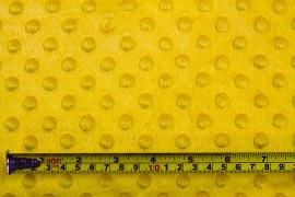 Tissu Polaire Minky Pois Jaune -Coupon de 3 mètres