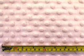 Tissu Polaire Minky Pois Rose -Coupon de 3 mètres