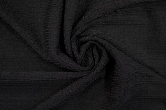 Tissu Maille Pull Antenna Noir -Au Mètre