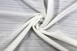 Tissu Maille Pull Antenna Ecru -Coupon de 3 mètres