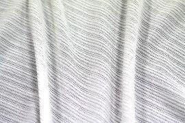 Tissu Maille Pull Antenna Ecru -Au Mètre