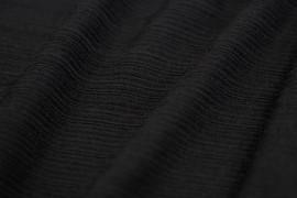 Tissu Maille Pull Antenna Noir -Coupon de 3 mètres