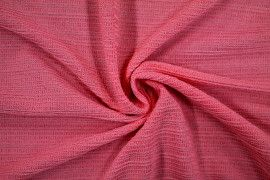 Tissu Maille Pull Antenna Corail -Coupon de 3 mètres