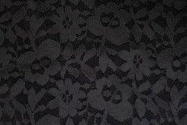 Tissu Dentelle Kym Noire -Au Metre