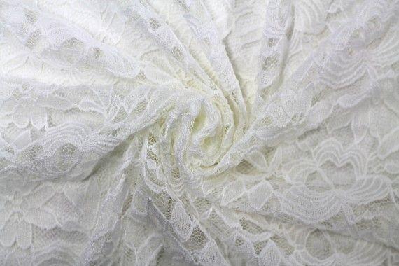 Tissu Dentelle Kym Blanc cassé -Au Metre