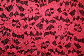 Tissu Dentelle Kym Rouge -Au Metre