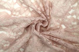 Tissu Dentelle Kym Rose pâle -Au Metre