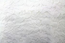 Tissu Dentelle Kym Blanc cassé -Coupon de 3 mètres