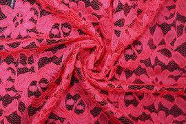 Tissu Dentelle Kym Rouge -Coupon de 3 mètres