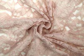 Tissu Dentelle Kym Rose pâle -Coupon de 3 mètres