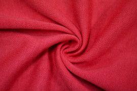 Tissu Molleton Terry Rouge -Coupon de 3 mètres