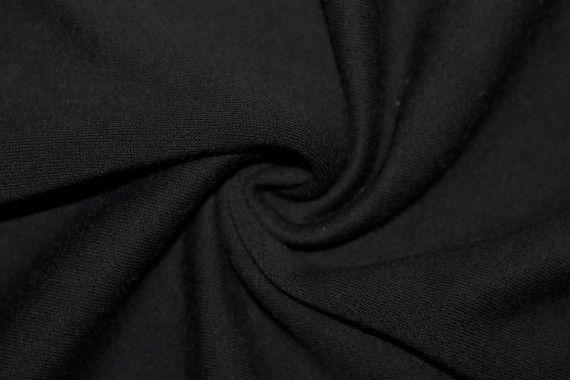Tissu Molleton Terry Noir -Coupon de 3 mètres