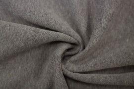 Tissu Molleton Terry Gris -Coupon de 3 mètres