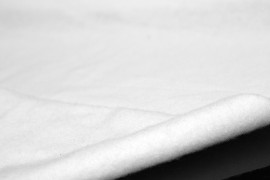 Tissu Molleton Terry Blanc -Coupon de 3 mètres