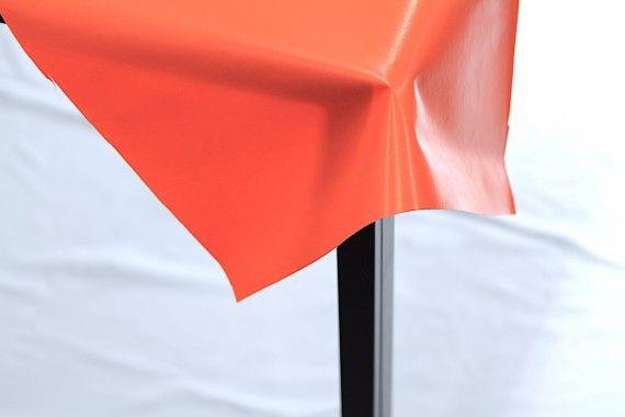Toile Cirée Unie Orange  -Au Mètre
