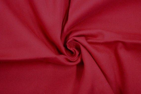 Tissu Gabardine Épaisse Rouge carmin -Coupon de 3 mètres