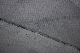 Tissu Gabardine Épaisse Gris -Coupon de 3 mètres