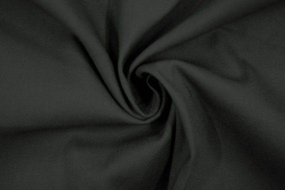 Tissu Gabardine Épaisse Gris foncé -Coupon de 3 mètres