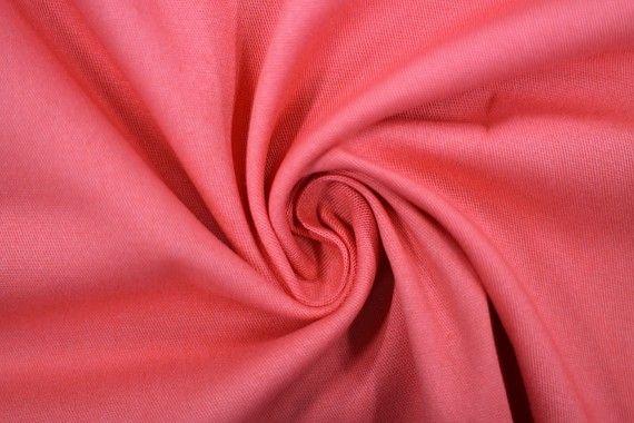 Tissu Gabardine Épaisse Corail -Coupon de 3 mètres