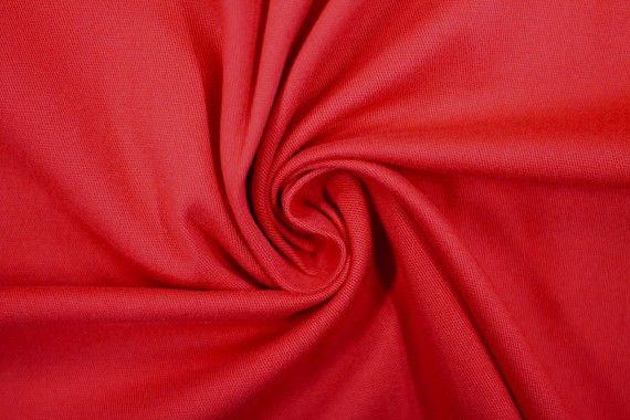 Tissu Gabardine Épaisse Rouge -Coupon de 3 mètres