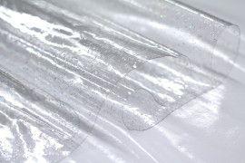Toile Cirée Transparente Pailletée -Au Mètre