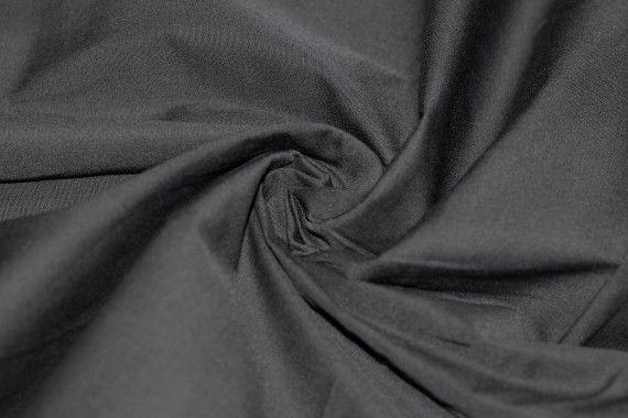 Popeline Unie 100% Coton Noire