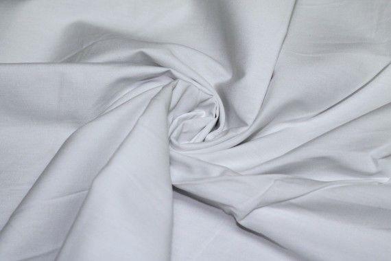 Popeline Unie 100% Coton Blanche