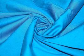 Tissu Popeline Unie 100% Coton Turquoise -Au Mètre