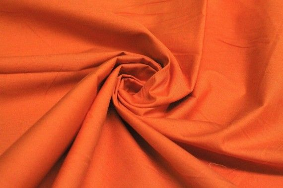 Popeline Unie 100% Coton Orange