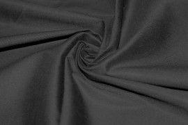 Tissu Coton/Elasthanne Noir de Qualité, Coupon 3 mètres