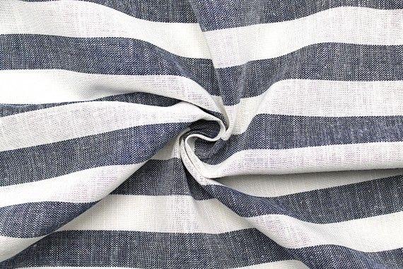 tissu lin viscose coton rayure ava bleu de qualit tissu. Black Bedroom Furniture Sets. Home Design Ideas