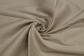 Popeline Coton/Elasthanne Beige