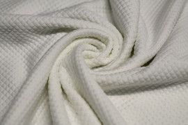 Tissu Mini Matelassé Ecru Coupon de 3 mètres